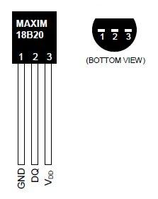 DS18B20-vývody